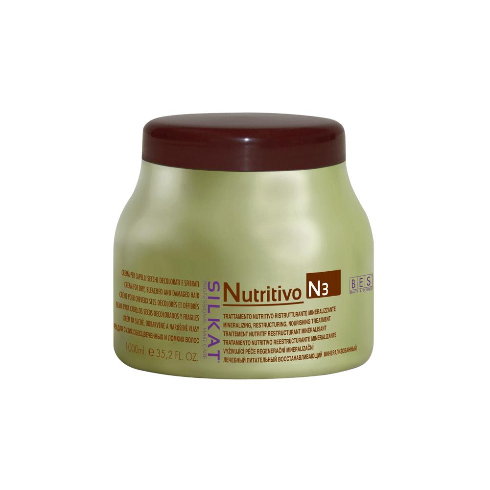 Silkat Nutritivo pakolókrém száraz, töredezett hajra 1000 ml