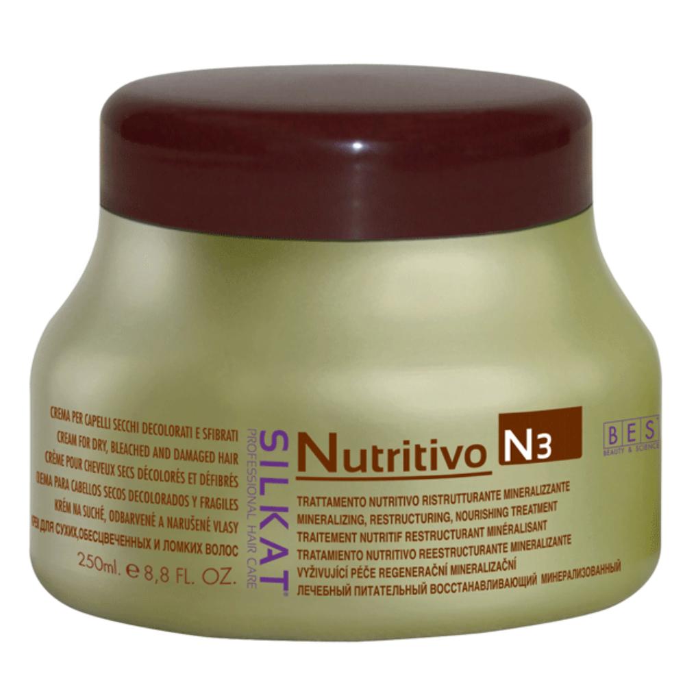 Silkat Nutritivo pakolókrém száraz, töredezett hajra 250 ml