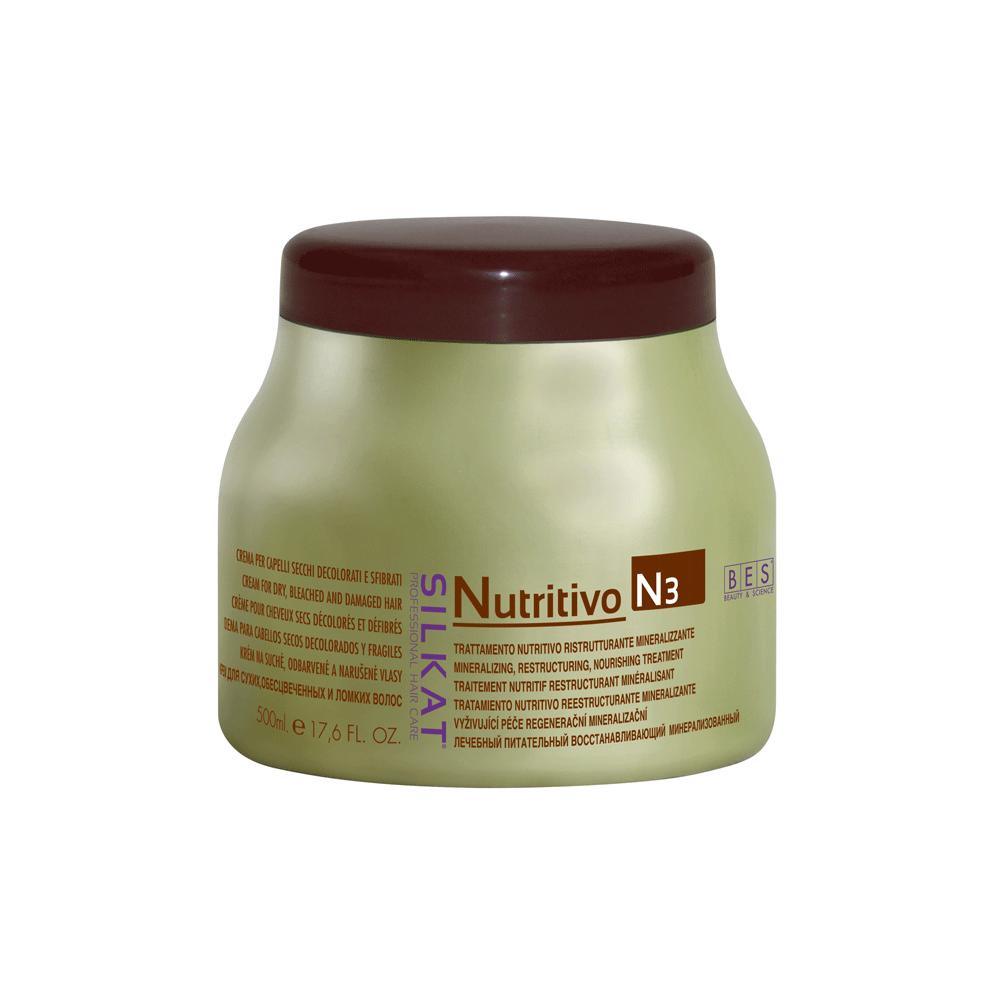 Silkat Nutritivo pakolókrém száraz, töredezett hajra 500 ml