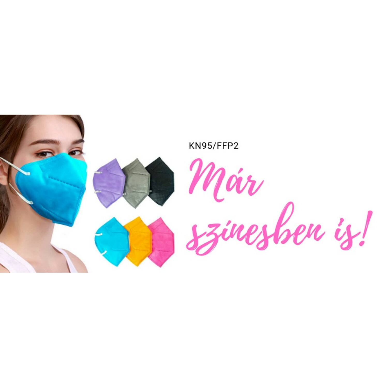 Színes KN95/FFP2 maszk